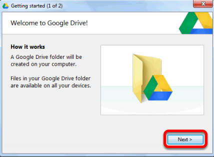 Sign into your Google Drive Click