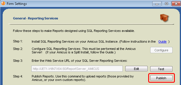 f Select the checkbox next to the Report or Template you which to delete, and click Delete. Note that this does not yet remove the item from the Amicus views you must perform the next step.