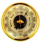 Weather Instruments Barometer: Definition: The aneroid barometer is an instrument that measures the pressure of the air. How it works: The atmospheric pressure changes as the weather changes.
