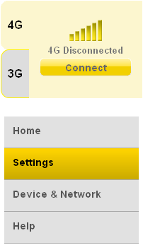 . Unless the Home menu is selected, a small network connection box is displayed.