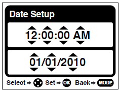 Setting the Date and Time The next step in the initial camera setup is to set the date and time on the camera.