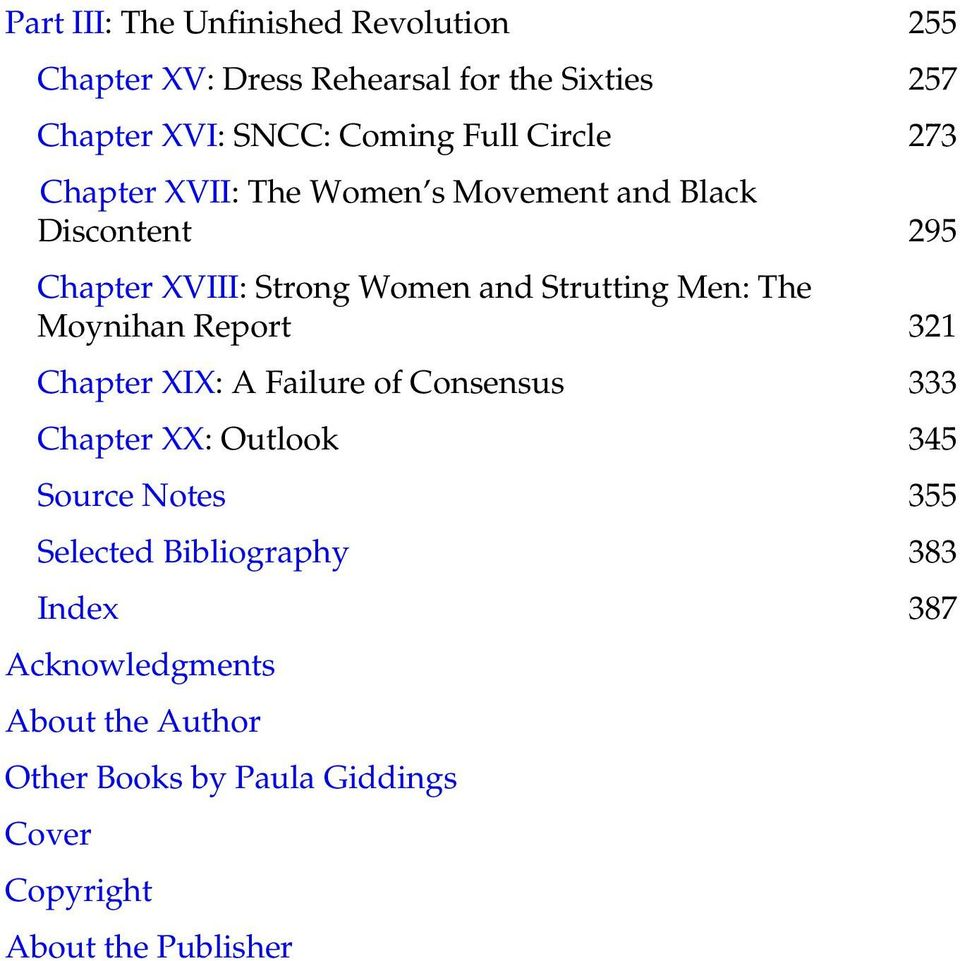 Report Chapter XIX: A Failure of Consensus Chapter XX: Outlook Source Notes Selected Bibliography Index