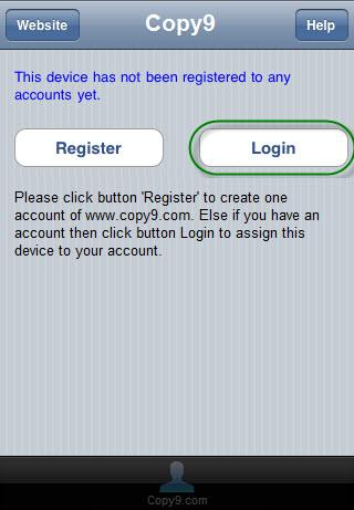 Attention: When you create an account, your device will be registered to this account automatically.