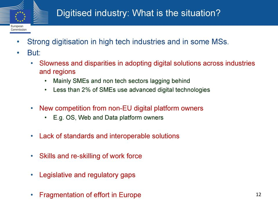 behind Less than 2% of SMEs use advanced digi