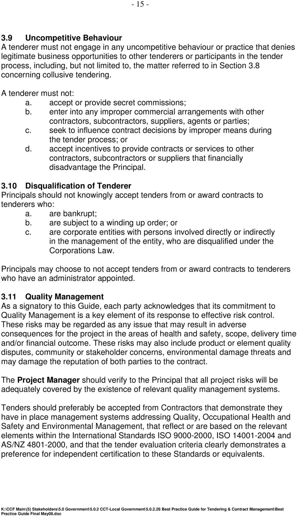 VICTORIAN CIVIL CONSTRUCTION INDUSTRY BEST PRACTICE GUIDE FOR ...