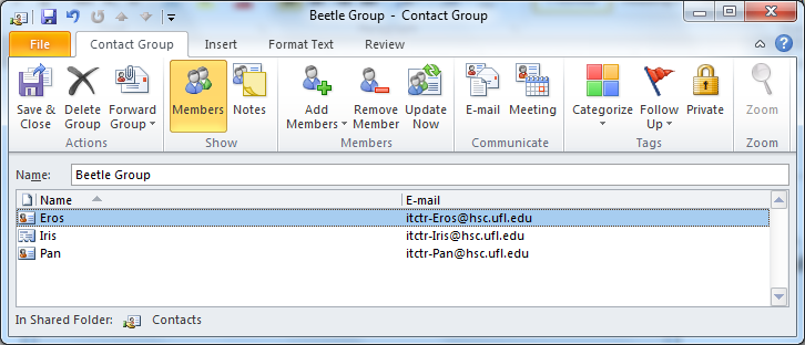Distribution List (Groups) A distribution list is a Group of contacts you would like to email on a regular basis.