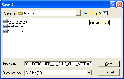 When finished the internal PVR directory tree is displayed in the file manager window.