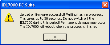 , the upgrade process will start If selected file is not correct, a pop-up window wrong firmware version is displayed After successful