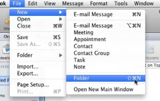 Organize Message with Folders Outlook 2011 allows users to create additional Inboxes for e-mails in order to keep e-mail messages on file for a while Create Additional Folders under Inbox Folder From