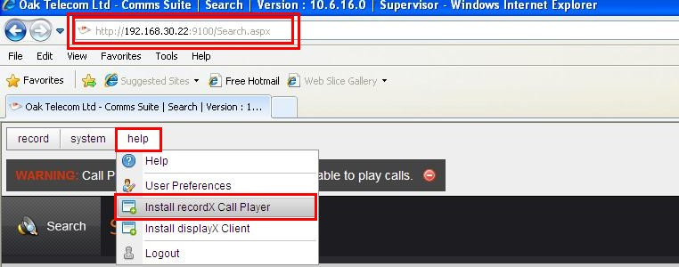 8.4. Verify that telephone call recordings can be played back and heard correctly In order to play saved
