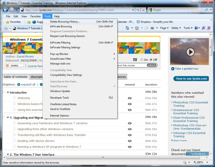 Keeps browsing private InPrivate Browsing If you browse the Internet on a shared computer, for example a home computer with family members or one at the kiosk or Internet café, you might want to keep