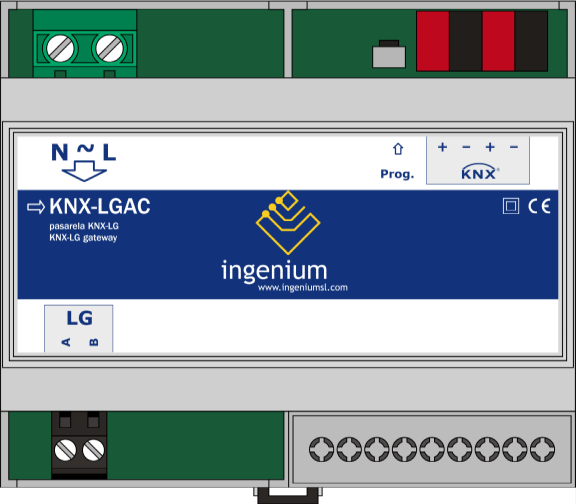 1 GENERAL DESCRIPTION The LGAC-KNX gateway is a device used for control interface between the LG HVAC own protocol and KNX devices.