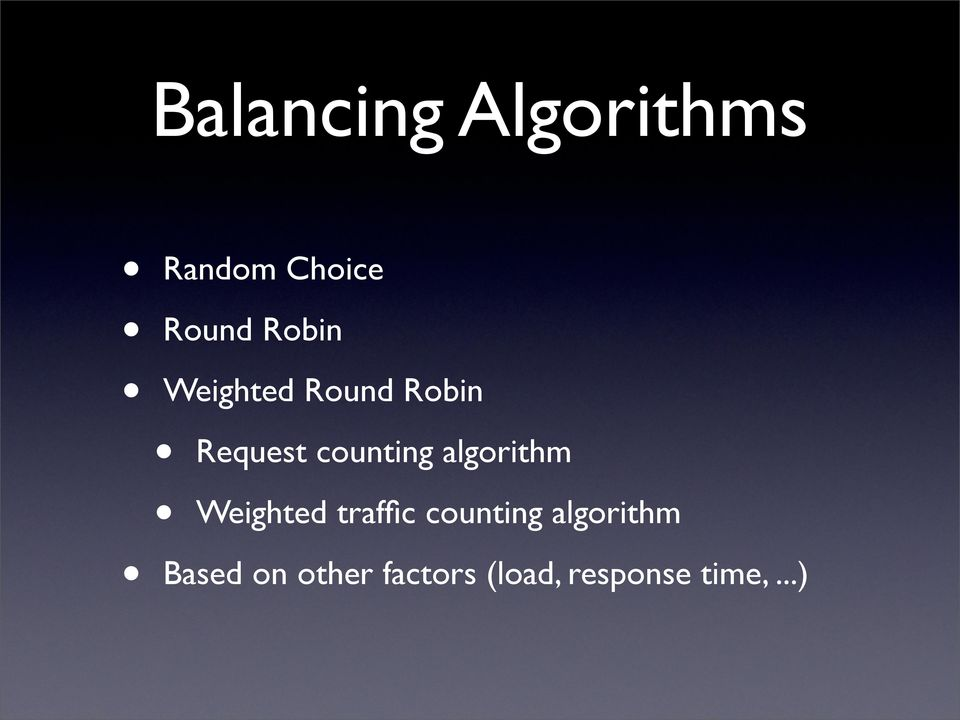 algorithm Weighted traffic counting