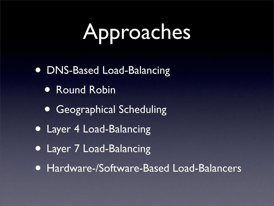 Layer 4 Load-Balancing Layer 7