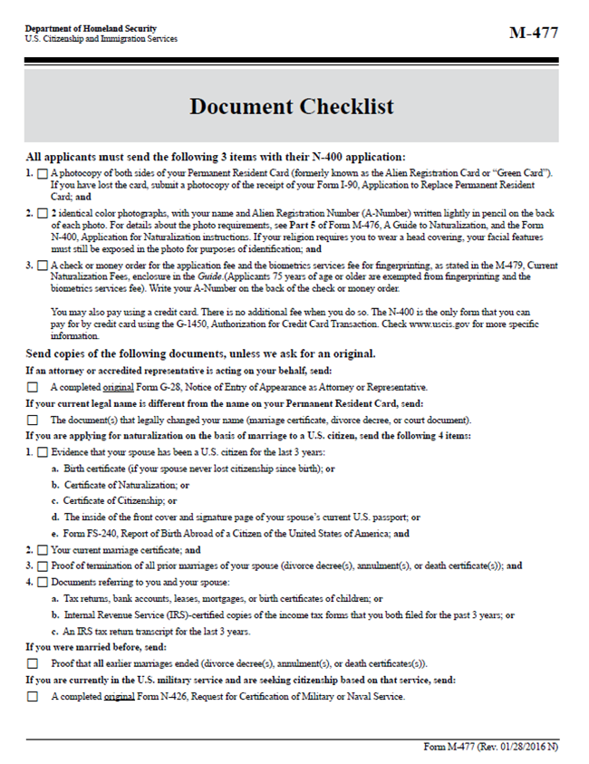 N-400 NATURALIZATION FOR FOREIGN BORN SPOUSES - PDF