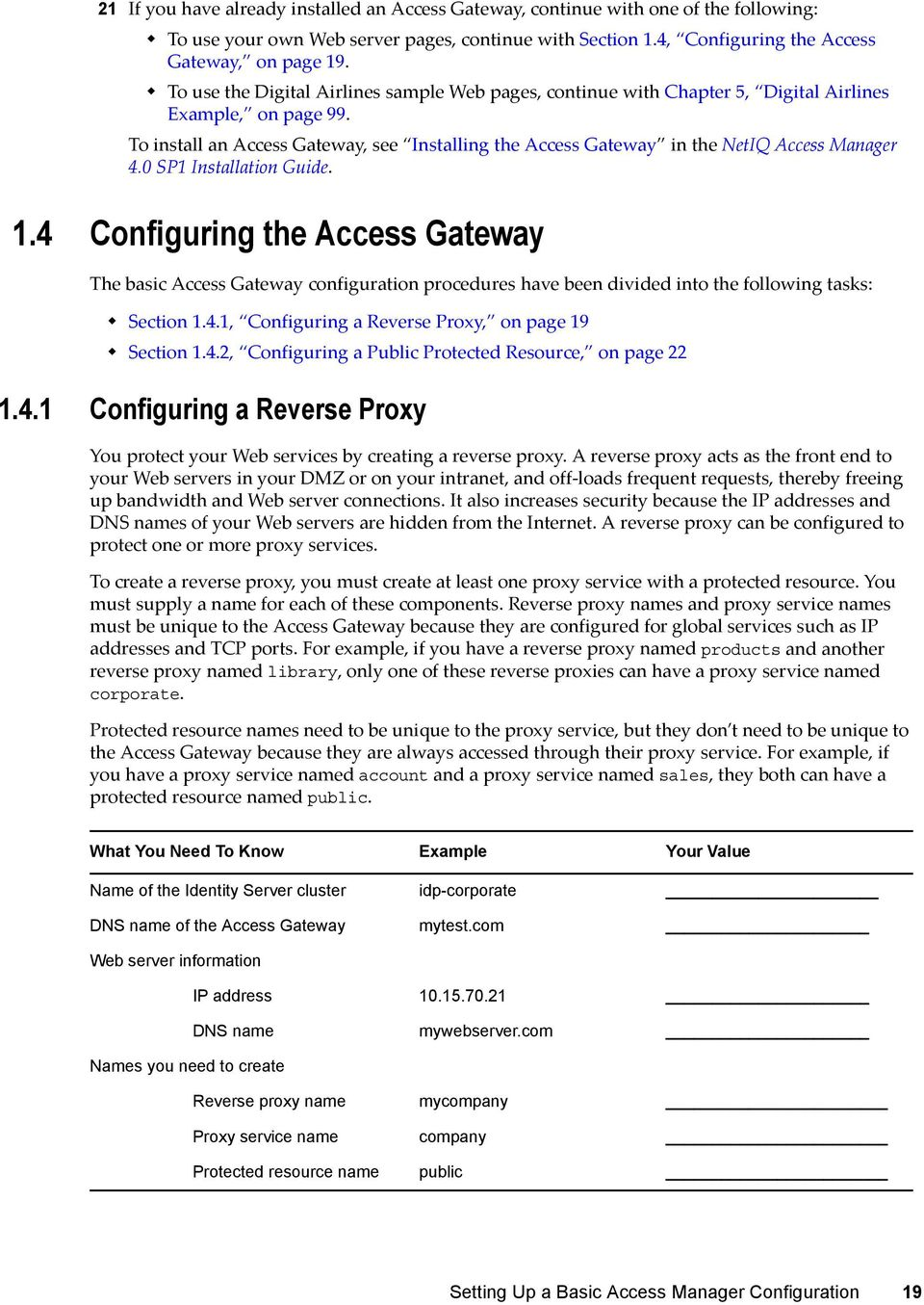 To install an Access Gateway, see Installing the Access Gateway in the NetIQ Access Manager 4.0 SP1 Installation Guide. 1.