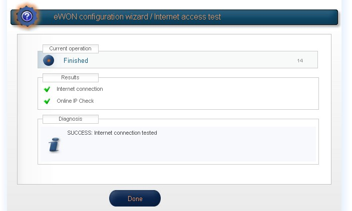 "2. Quick ADSL connection Select ""Maintain Connection"" Now, the wizard will perform an online test."