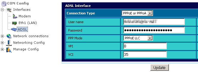 Manual ADSL Configuration Chapter 4.