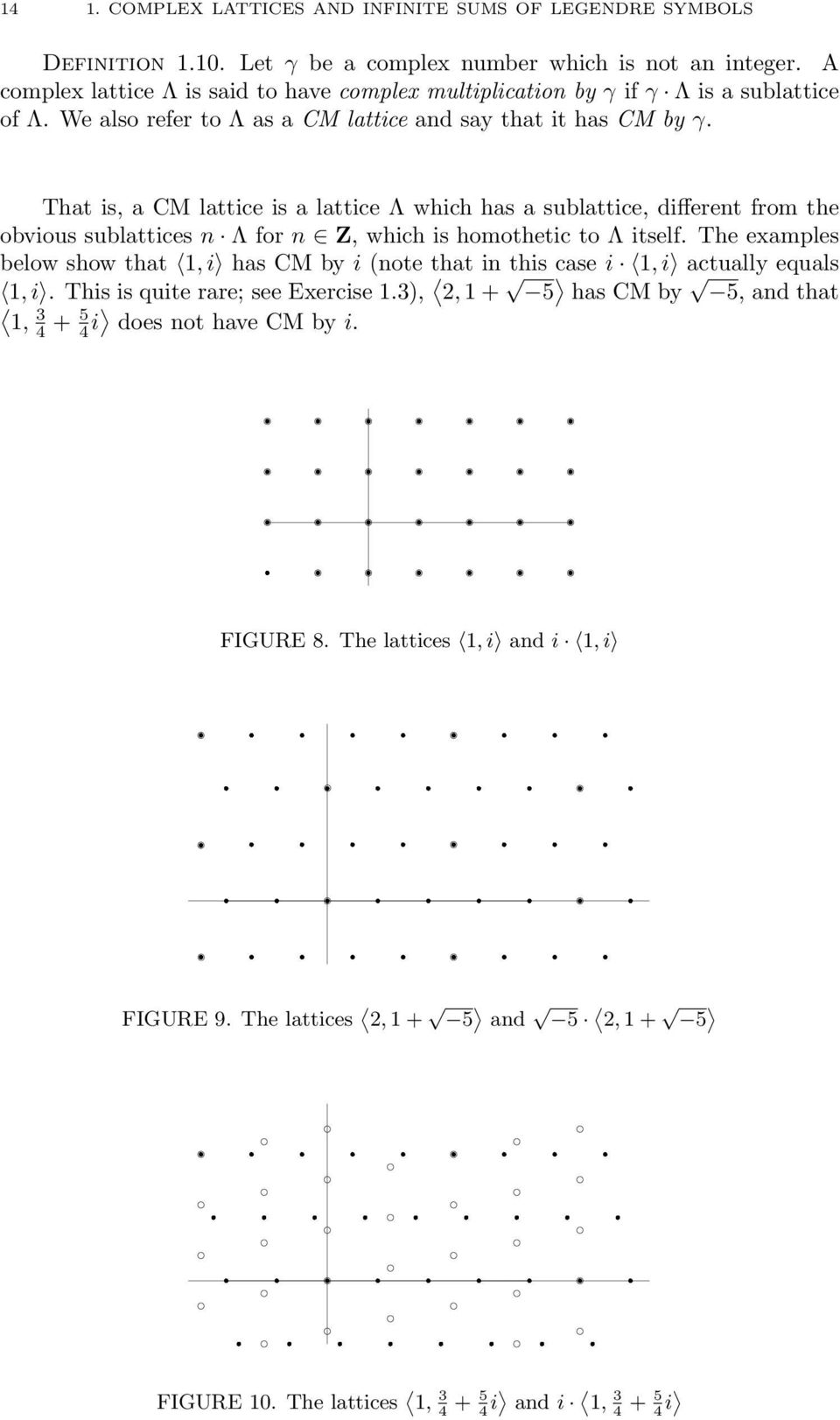 We also refer to Λ as a CM lattice and say that it has CM by γ.