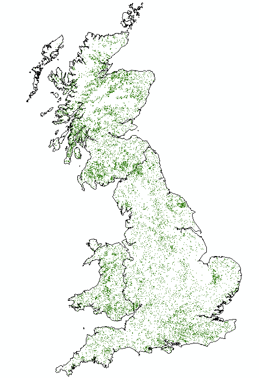 Field Sample Locations Fieldwork First Cycle 5 of 5 years complete 15000 sample squares Around