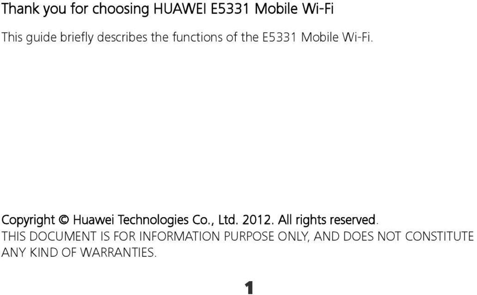 Copyright Huawei Technologies Co., Ltd. 2012. All rights reserved.