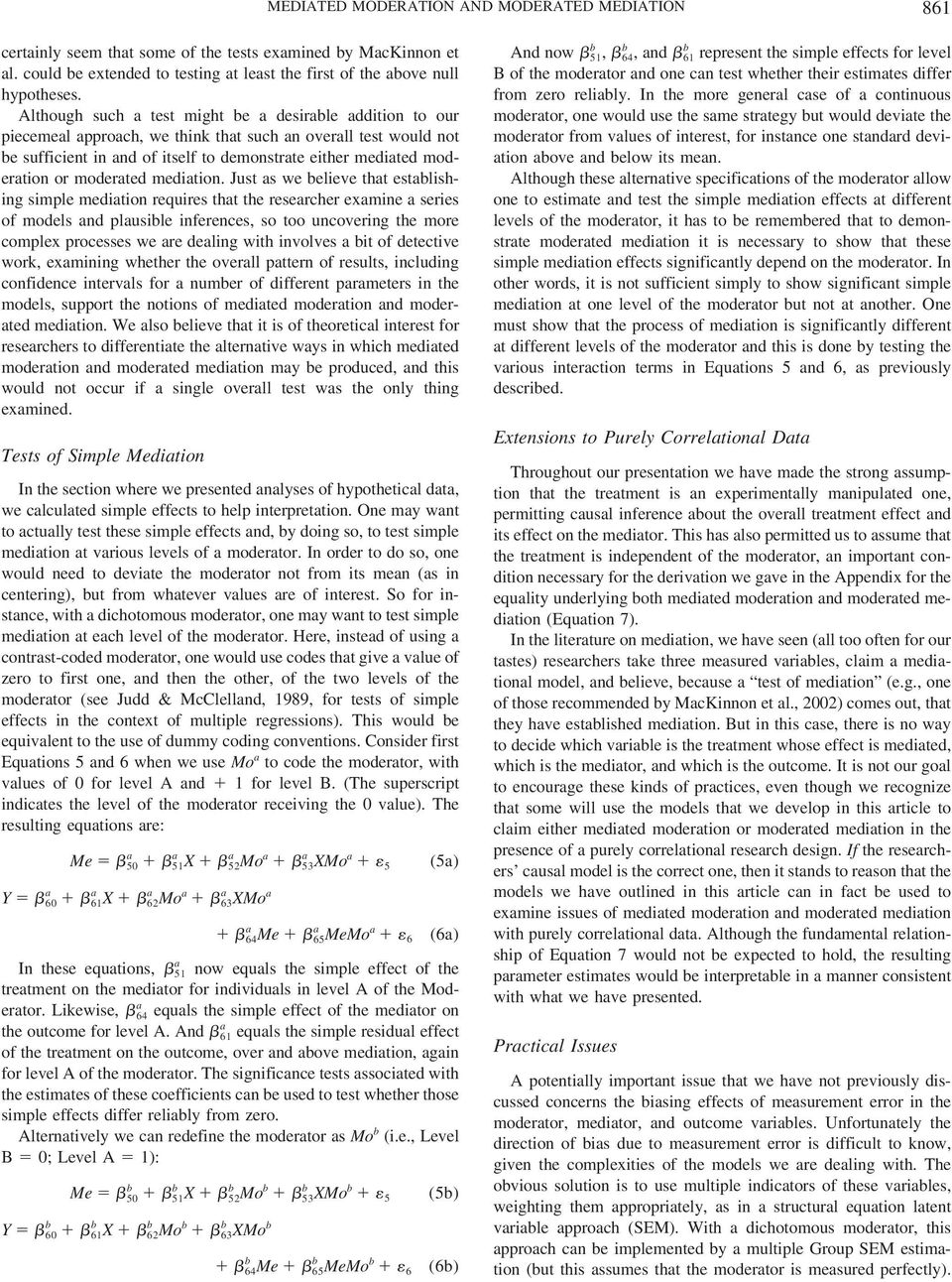 moderated mediation.