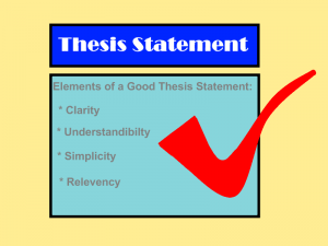 Topic/ Thesis Statement From your research you should form a strongly stated topic/thesis. Your topic or thesis statement is what your entire essay is going to be about.