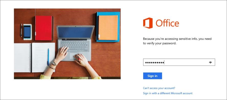 8. Touch Close. To reinstall Office 365: 1. Restart your tablet. 2. On your tablet, go to http://office.com/myaccount. 3. Log in to your Microsoft account (if you are not already).