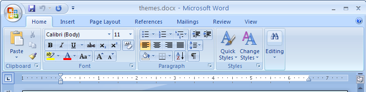 The Quick Access Toolbar Located above the Ribbon when you first start your Microsoft Office program, the Quick Access Toolbar puts commands where they re always visible and near at