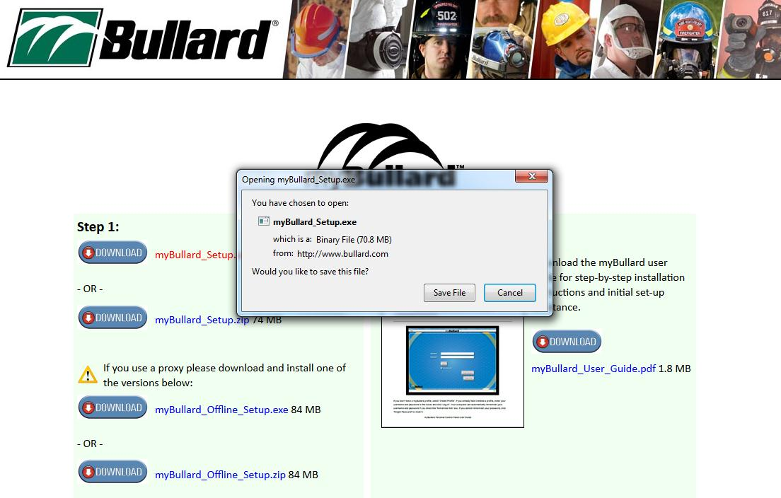 Page 1 mybullard Personal Control Panel User Guide Go to www.bullard.com/mybullard and click on the setup file in order to download the mybullard installer to your PC.