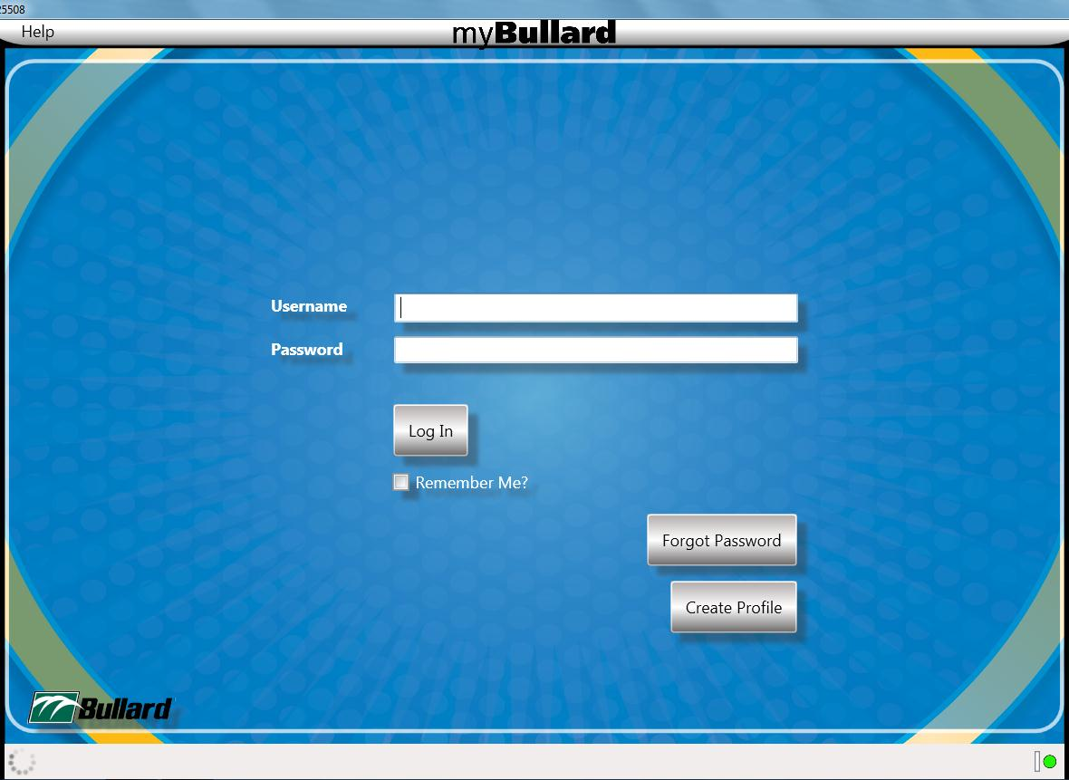 Page 7 mybullard will take a few seconds to load. If you don t have a mybullard profile, select Create Profile.
