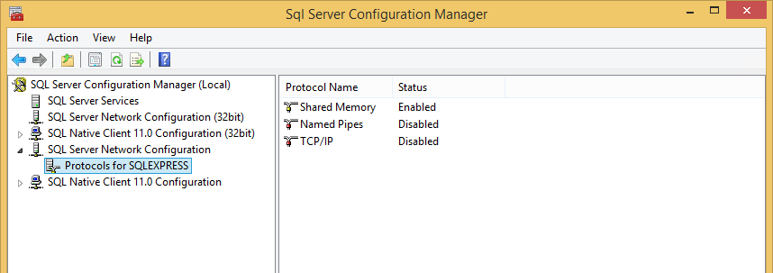 SQL Server Configuration If you try to connect to an instance of Microsoft SQL Server 2014 from a remote computer or a client, an error message might appear: This problem can occur with any program
