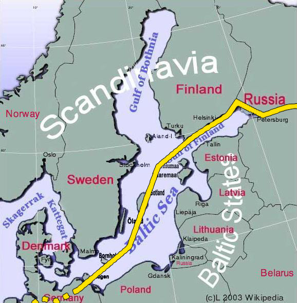 Nord Stream truly international project Crosses maritime areas of Russia Russia - internal waters, TS & EEZ