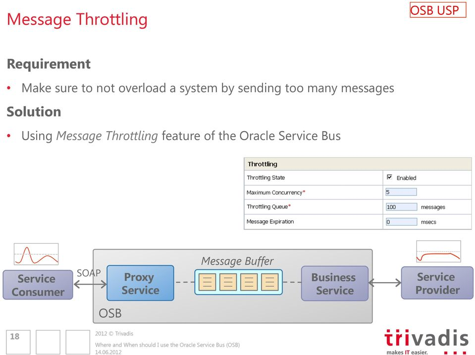 Throttling feature of the Oracle Bus Consumer Proxy Message