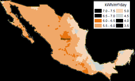 Mexico has abundant solar resources to cater to a growing need for power generation.