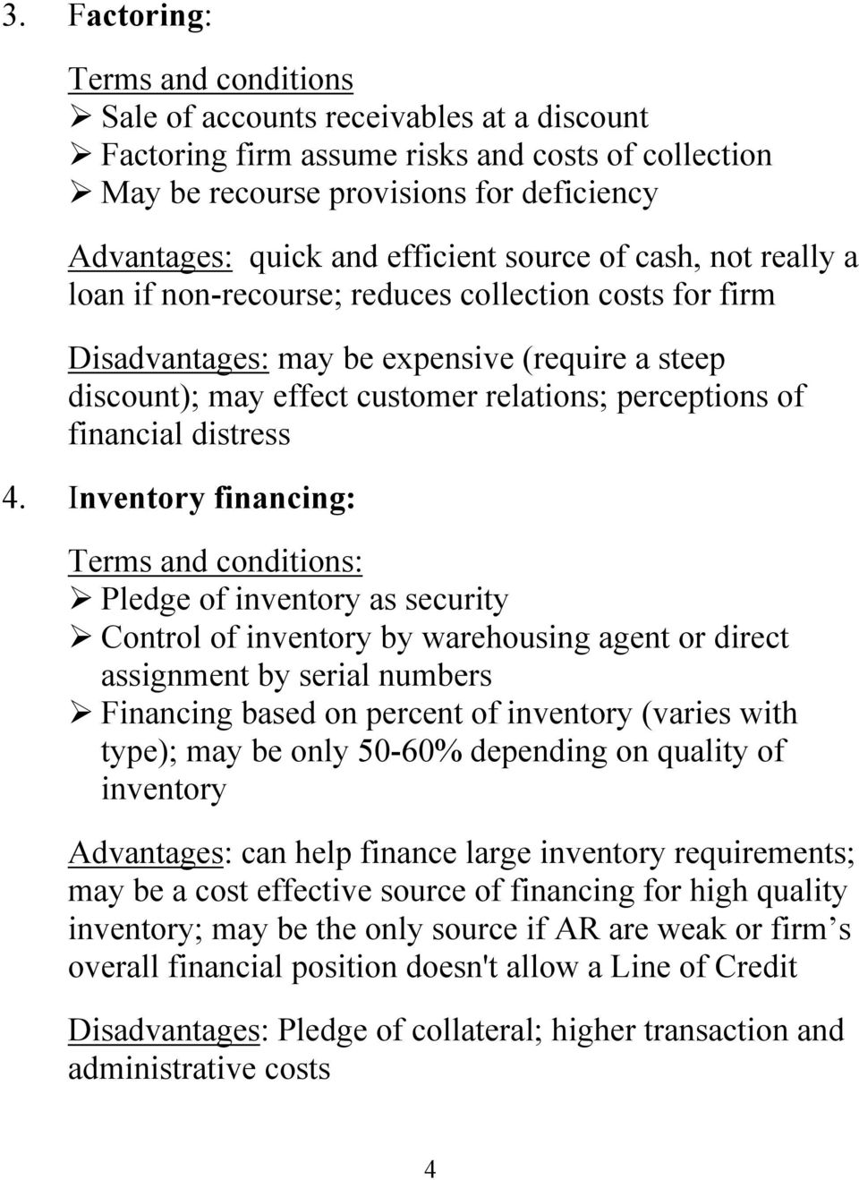 of financial distress 4.