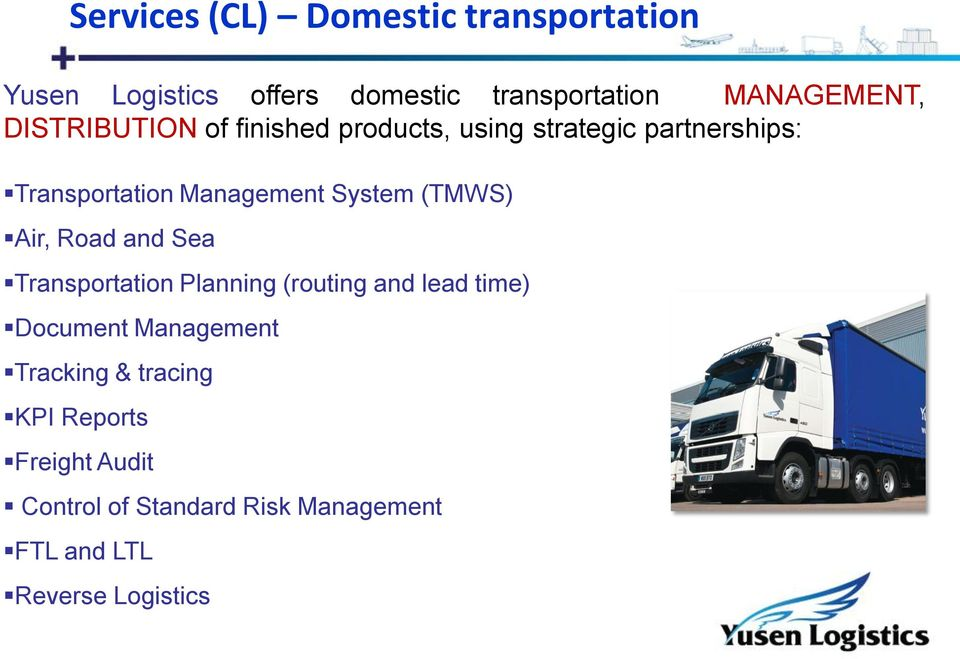 (TMWS) Air, Road and Sea Transportation Planning (routing and lead time) Document Management