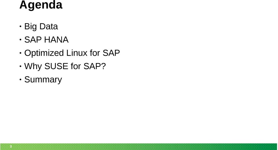 Linux for SAP Why