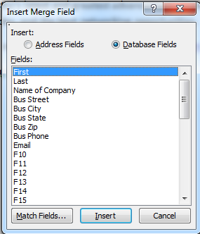 4. Insert Greeting Line and choose the format desired. Note the format can include the trailing comma. 5. Insert a single Merge Field choose Insert Merge Field. 6.