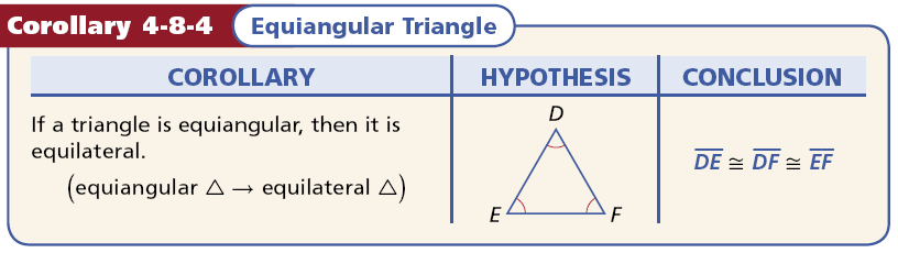EQUILATERAL TRIANLGES Example 3A: Using Properties of Equilateral Triangles Find the