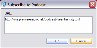 The Sean Hannity Podcast for itunes 9 System Requirements In order to run the Sean Hannity Podcast for itunes 9, please see the system requirements at: http://www.apple.