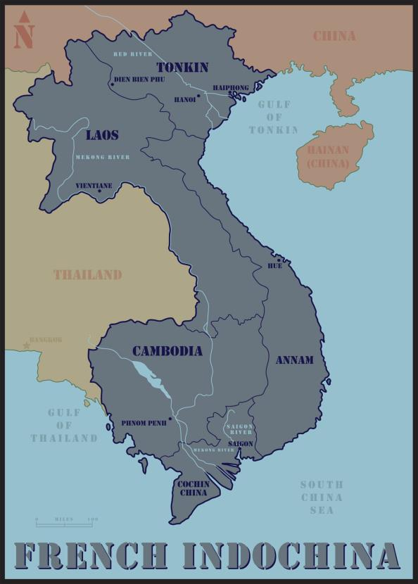 Late 1800s - France rules most of Indochina Early 1890s 1930 1940-1941 History of Vietnam French Occupation result of early 17th century French colonization French Indochina = Vietnam, Cambodia, and