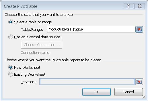 Refreshing data 1. Select any cell on the PivotTable. 2. Click the Options tab in the PivotTable Tools section of the Ribbon. 3. Click the Refresh button in the Data group.