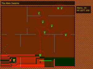 5 Fig. 3 The game after adding walls Fig. 4 The final version of the game attack.