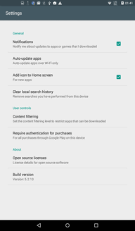 Set Automatic App Updates 1. From home, tap Play Store. 2. Tap Menu > Settings > Auto-update apps, select auto-update apps conditions.