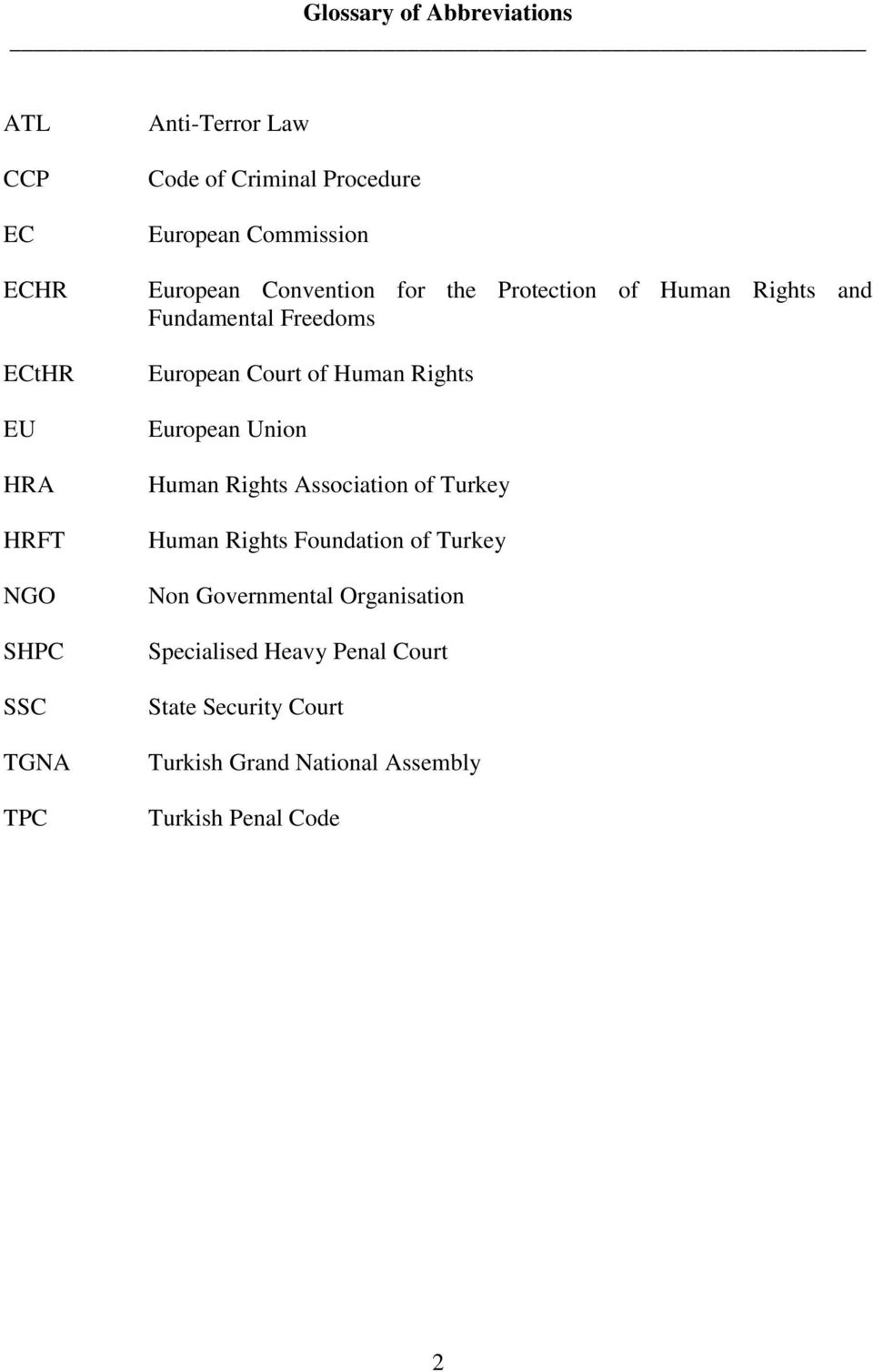 Court of Human Rights European Union Human Rights Association of Turkey Human Rights Foundation of Turkey Non