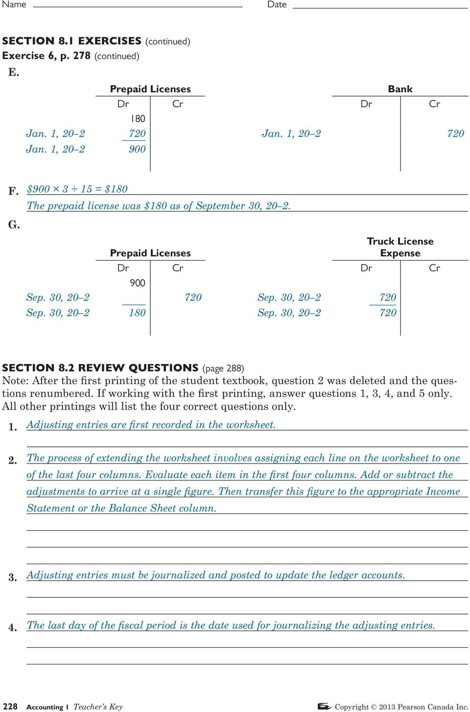 Accounting 1 Problem 18 5 Worksheet : Section review questions page pdf