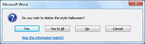 DELETING A STYLE To delete a style, follow the instructions below. 1. Click on the dialog launcher of the Styles group. 2. The Styles pane will open. 3. Click on the Manage Styles icon. 4.