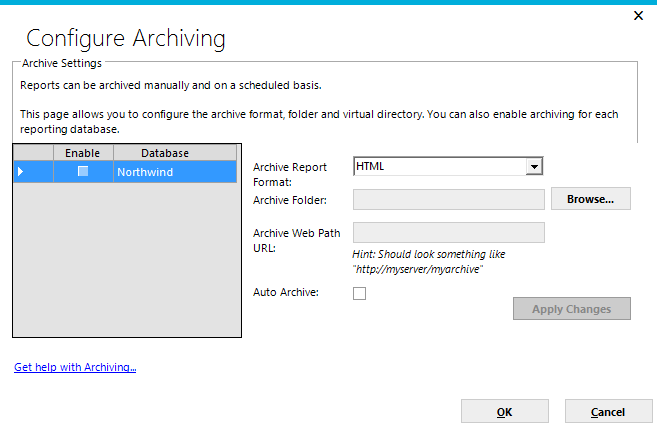 Page 70 Archiving Ad Hoc allows reports to be stored in an archive. The System Administrator must configure and enable archiving for this feature to be used.