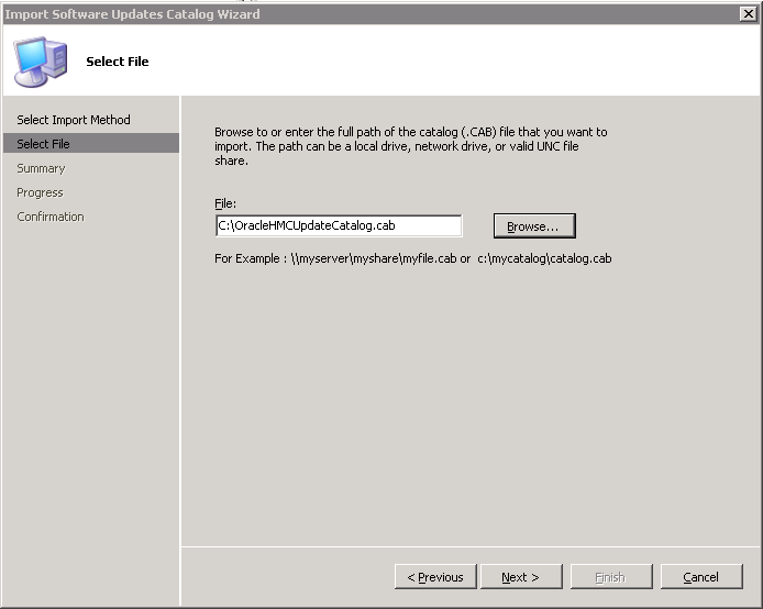Figure 5: SCUP Select Catalog File Dialog Box 6. You are asked to accept the catalog signed by Oracle America, Inc. as seen Figure 6. Figure 6: Accept Oracle America, Inc.